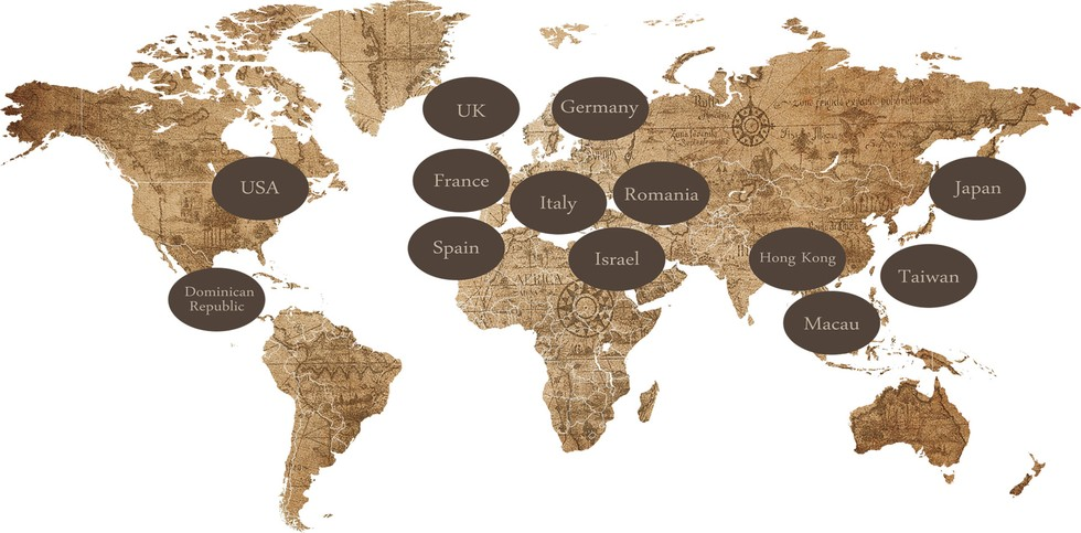World map locations
