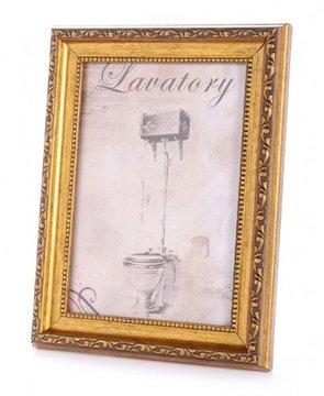 תמונות תמונת שירותים עם מסגרת זהב L