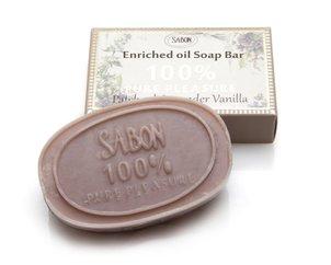 סבון על בסיס שמן דקלים סבון מוצק על בסיס שמן דקלים פטשולי-לבנדר-וניל